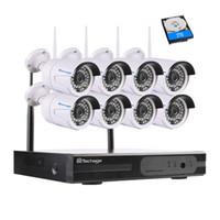 1080p الأمن واي فاي نظام الدوائر التلفزيونية المغلقة 8CH HD اللاسلكية NVR كيت 2.0MP داخلي في الهواء الطلق 8 كاميرات مراقبة فيديو مجموعة APP مشاهدة