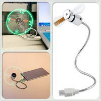 2017 Mini USB Fan gadgets Esnek Gooseneck LED Saat dizüstü PC Notebook Için Zaman Ekran Serin yüksek kalite dayanıklı Ayarlanabilir