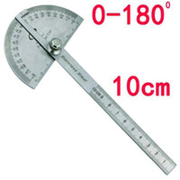 Stainless Steel Round Head 180 degree Protractor Angle Finde...