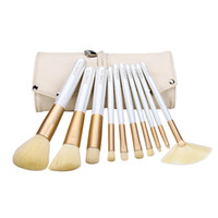 Zoreya 10 Pcs Fashion Make up Brushes Beige Professional Mak...