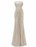Solovedress De L'épaule Sirène Paillettes Élégante Robe De Demoiselle D'honneur Sans Bretelles 2017 Réelle Robe De Maman De Honra B0063