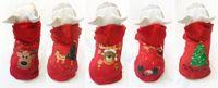 Noel ağacı elk Noel partisi elbise hediye yavru kostüm köpek ceket kedi ceket Noel Baba elbise kazak hayvan Aksesuarları