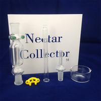 Nectar Collector Kit Pyrex Glasrohre 14mm mit Titanium Ecigs Shisha-Sets mit Geschenk-Kasten DHL geben zu USA