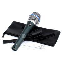 Qualidade BETA87A BETA 87A Karaoke Mic Vocal Wired Cardióide Microfone Dinâmico Mike Para BETA87C Audio Mixer Cante Microfone Mcrofono Mikrofon
