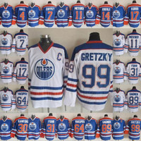 ادمونتون مزيتات جيرسي 99 اين Gretzky 4 تايلور قاعة 14 إيبرلي 11 مارك ميسير 17 جاري كوري 89 سام غاغنر هوكي الفانيلة رخيصة