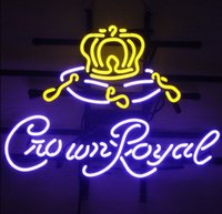 17 * 14 Insegna al neon Crown Royal WHISKEY Business Store Birreria Pub Store Neon Light Sign