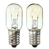 اديسون E14 SES 15W / 25W ثلاجة ضوء الثلاجة مصباح لمبة التنجستن خيوط الإضاءة الدافئة الأبيض AC220-230V
