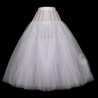 أبيض ثوب الكرة تنورات قصيرة الزفاف الأورجانزا تحتية لفستان الزفاف بالإضافة إلى حجم قماش قطني 2019 P03