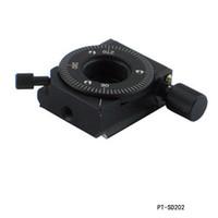PDV Satılık R Eksen 360 derece dönüş aşaması Döner Sahne, Açı ayarlama aşaması çapı: 29mm PT-SD202