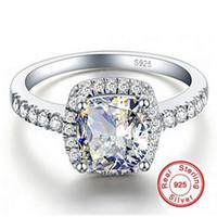 큰 프로 모션 3ct 진짜 925 실버 반지 SWA 요소 화이트 SONA 다이아몬드 반지 도매 웨딩 약혼 보석 새로운 크기 5-12