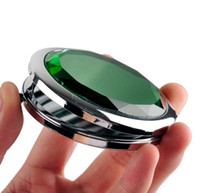 Cosmético compacto espejo de cristal que magnifica maquillaje espejo regalo de boda 6 colores herramientas de maquillaje 10 p / l