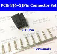 GPX 100X ATX / EPS PCI-E 4.2mm 5557 pin (6 + 2) Pin 6 + pin maschio Connettore di alimentazione Custodia guscio in plastica con perno terminale 800pcs 5557