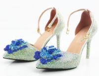 Yeni Sivri mor canavar kyi AB matkap manuel ayakkabı gelin düğün ayakkabı beyaz yüksek topuklu terlik sandalet ayakkabı ile elmas