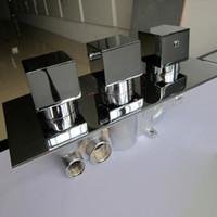 Acessórios do banheiro para o chuveiro 3 Way Válvula de desviador termostática escondida Praça Válvula de Mistura Triplo Handles / Válvula de Qualidade