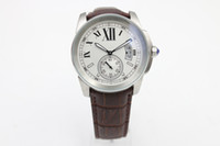new Luxury automatic caliber brown Leather band glass back s...