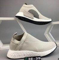 Very popular newest grey NMD _CS2 PK W black Running Sneaker...