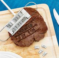 BBQ العلامة التجارية الحديد مع تغيير حرف شواء ستيك أسماء أداة شخصية ستيك اللحم الشواء أدوات للشواء اللحوم