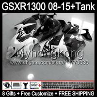 nero lucido 8gifts Per SUZUKI Hayabusa GSXR1300 08 15 GSXR-1300 14MY52 GSXR 1300 GSX R1300 08 09 10 11 12 13 14 15 Kit carenatura bianco lucido