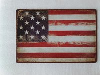 USA United states Flag tin sign Vintage home Bar Pub Hotel R...