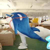 2017 de alta qualidade publicidade mascote adorável azul golfinho mascote traje de alta qualidade mascote dos desenhos animados frete grátis