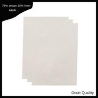 0,13 mm d'épaisseur printinng papier lin sentir sans amidon sans acide imperméable types imperméable à l'eau taille a4 couleur blanche 200 feuilles de papier bond