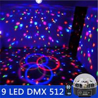 9 LED DMX 512 جهاز التحكم عن بعد سحر الكريستال السحرية تأثير الكرة الخفيفة DMX ديسكو دي جي المرحلة إضاءة اللعب