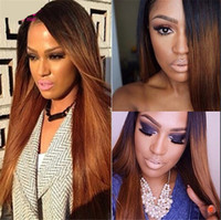 7A Ombre Lace Front Wig Human Hair long virgin Full Lace Wig...