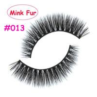 Alta Qualidade 013 3D Natural Espessa Cruz Falso Cílios Falsos Mink Cabelo Handmade Eye Lashes Fortalecer O Cílio