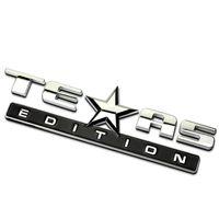 3Dテキサス版エンブレムバッジシービーシルバラドGMCシエララングラーコンパスカースタイリングエンブレムステッカーアクセサリー