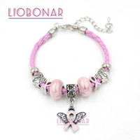 New Arrival Wholesale DIY Breast Cancer Jewelry Wheat Pink R...