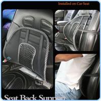 Darmowa Wysyłka Nowy Car Seat Chair Massage Powrót Super Lumbar Siatka Wentylowana Poduszka Pad Black, Mesh Back Lumbar Poduszki