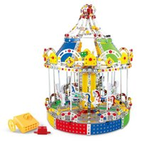 3D Assembly Metal Model Kits Toy Carousel Merry Go Round Wit...