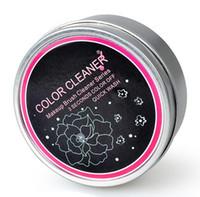 3 secondi Colore Off !! Spazzola per trucco Detergente per rimuovere la spugna Colore da pennello Detergente per ombretto con spugna, lavaggio rapido