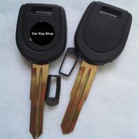 Boa Qualidade Substituição Transponder Caso Chave Shell Para Mitsubishi Chave Shell Lâmina da chave Direita com Siliver Logotipo
