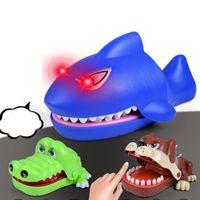الإبداعية الجدة المزحة طبيب دغة فنجر التفاعلية مجلس لعبة القرش التمساح الكلب نكتة لعب حزب لعبة للبالغين والاطفال 10 قطع