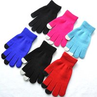 adult five finger gloves touch screen women glove winter hot...