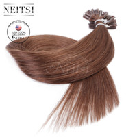 Neitsi USA Stock 20 '' Pré bonde U Pointe Extensions de Cheveux Humains 25g / lot 1g / s Droite Highlight Keratin Fusion