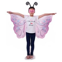 2018 HOT Butterfly cape 110*60cm layer satincostume Hallowee...