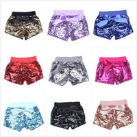 Baby Sequins Shorts Glow Bowknot Pantalones Bling Dance Princess Shorts Fashion Boutique Shorts regalo del día de los niños JC45