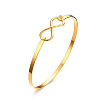 الأزياء والمجوهرات المرأة 3MM الفولاذ المقاوم للصدأ سوار للفتيات لون الذهب حد لانهائي الكفة الإسورة الاسوره بالجملة