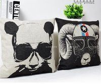 Geometric Bear Panda Home Decorative Pillow Fashion Sofa Cus...