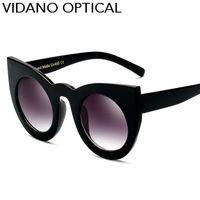 Vidano Optical mais recente marca óculos de sol Mulheres e Homens Sunglasses presente dos namorados Moda óculos de sol Cateye Vintage UV400 frete grátis