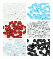 16 färger pick - 500pcs 10mm (4 karat) klar diamantkonfetti akryl pärla weding party dekoration-fri frakt