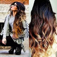Ombre T1b 4 27 Full Lace Human Hair Wigs Wavy 150 Density Na...