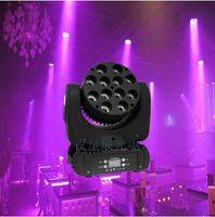 haz de luz principal móvil LED 12x12w RGBW 4in1 de color con avanzados 9/16 canales DMX para disco de DJ partes muestran luces