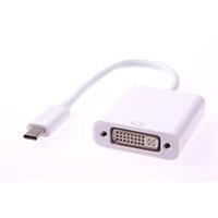 Tipo C Cavo adattatore USB 3.1 da maschio a DVI per PC Macbook Colore bianco da 12 pollici