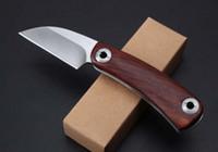 2018 YENI Tıraş Jilet D2 Taktik Katlanır Bıçak Ahşap Kolu Açık Kamp Avcılık Survival Cep Bıçak Yardımcı EDC Araçları Koleksiyonu