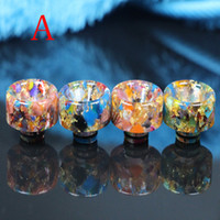 Newest Colorful Drip Tips For E Cigs Epoxy Resin Drip Tip Mi...