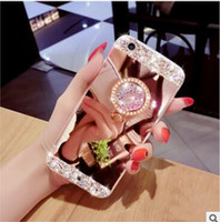 Luxury Bling Diamond Crystal TPU Case With Stand Holder Kick...
