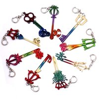 9 Diseño Anime Kingdom Hearts Key Rings Joyería Colorful Alloy Key Chain Key Ring para regalo